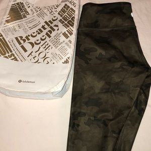 LULULEMON Wunder Under Crop In Savasana Camo Green